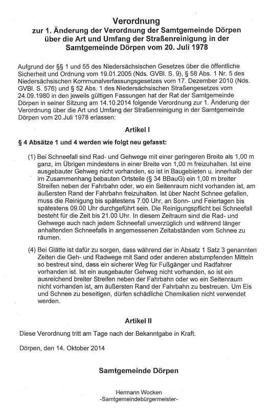 16-01-07 1. Änderung der Verordnung - Winterdienst